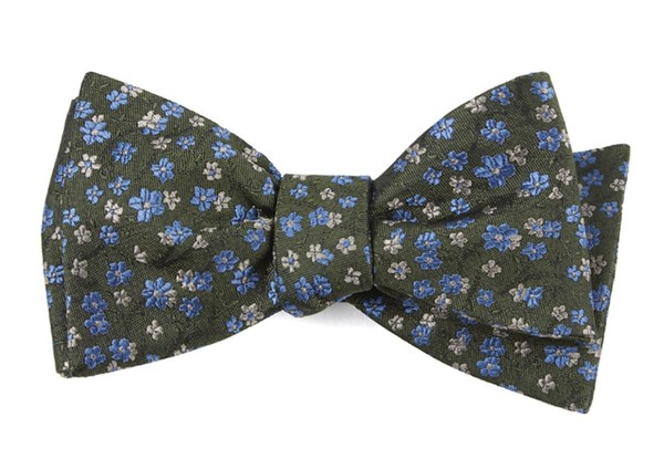 Free Fall Floral Army Green Bow Tie