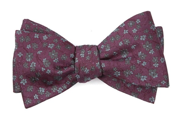 Free Fall Floral Mauve Bow Tie
