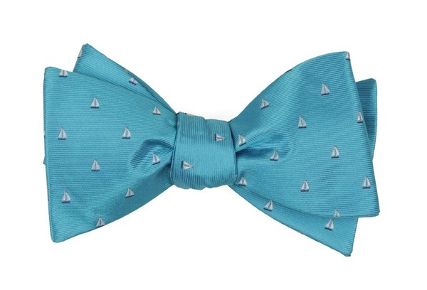 Sailboat Sprint Turquoise Bow Tie