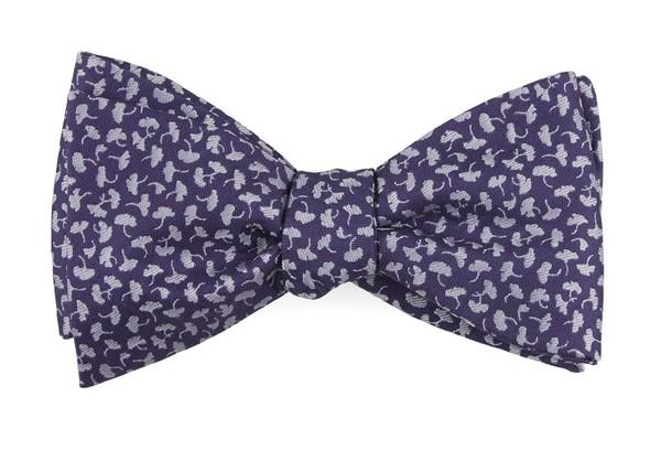 True Floral Purple Bow Tie