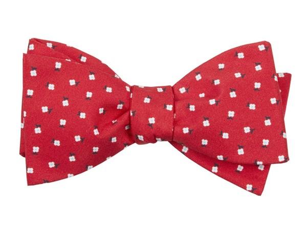 Wonder Floral Apple Red Bow Tie