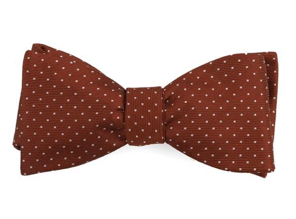 Mini Dots Copper Bow Tie