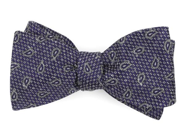 Pine Lake Paisley Purple Bow Tie