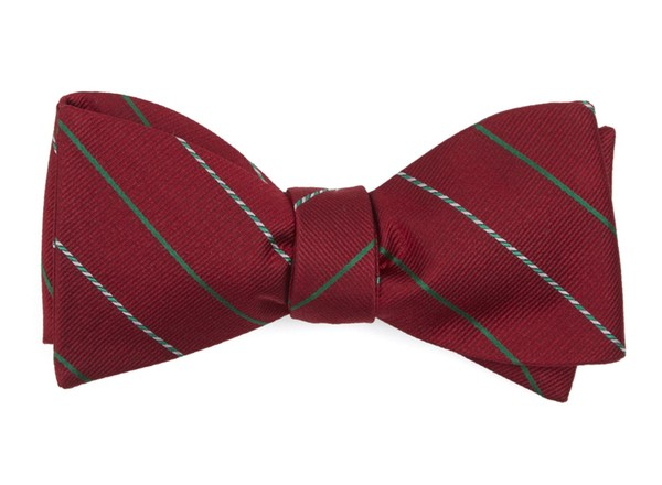 Candy Cane Stripe Red Bow Tie