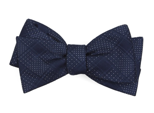 City Block Navy Bow Tie