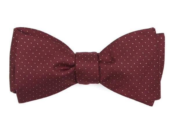 Flicker Burgundy Bow Tie