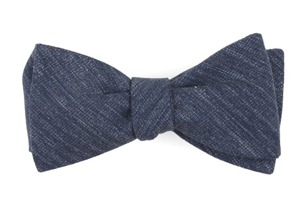 West Ridge Solid Navy Bow Tie