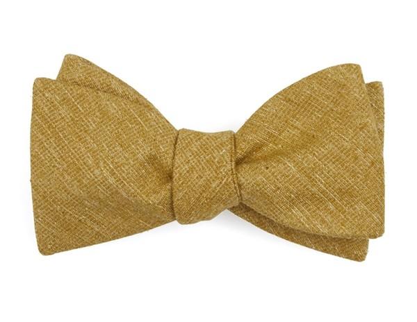 West Ridge Solid Mustard Bow Tie