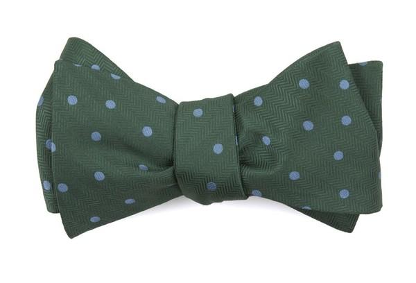Jackson Dots Kelly Green Bow Tie