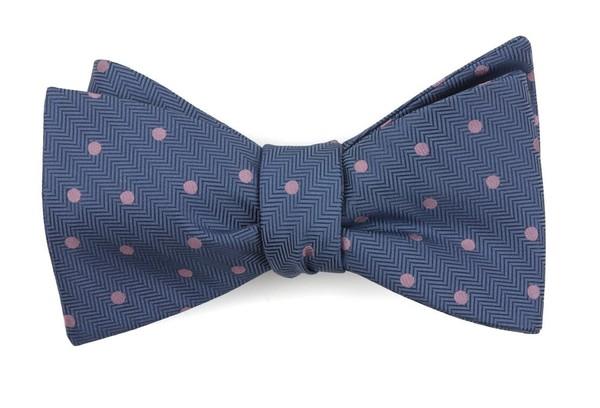 Jackson Dots Blue Bow Tie