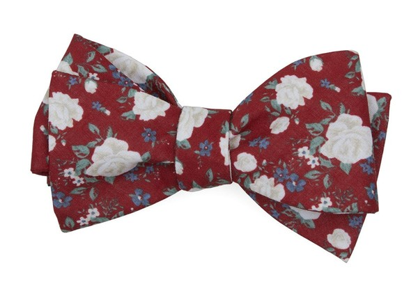 Hodgkiss Flowers Red Bow Tie