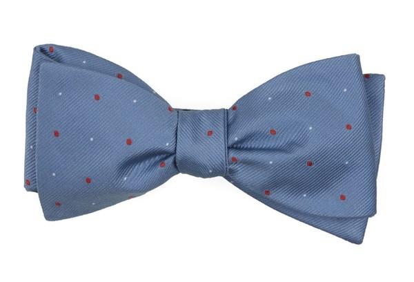 Delisa Dots Light Blue Bow Tie