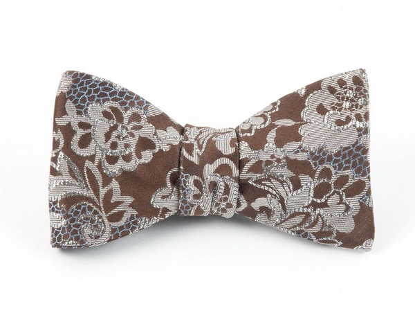 Holiday Lace By Dwyane Wade Brown Bow Tie