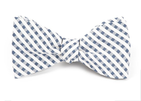 Court Check By Dwyane Wade Silver Bow Tie