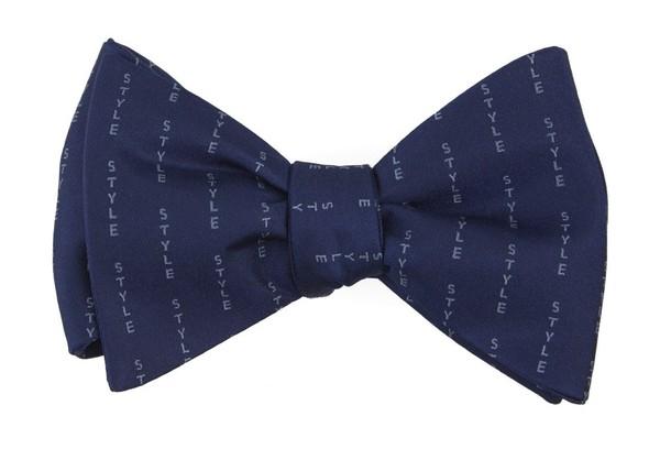 Style Pinstripe By Dwyane Wade Navy Bow Tie