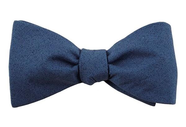 Solid Patrol Navy Bow Tie