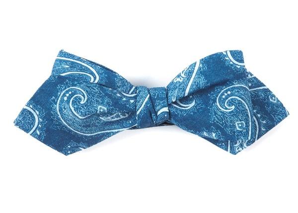 Planetary Paisley Royal Blue Bow Tie