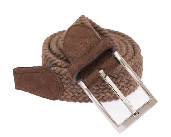 Textured Braided Brown Belt
