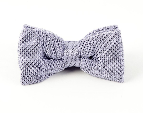 Knitted Lilac Bow Tie