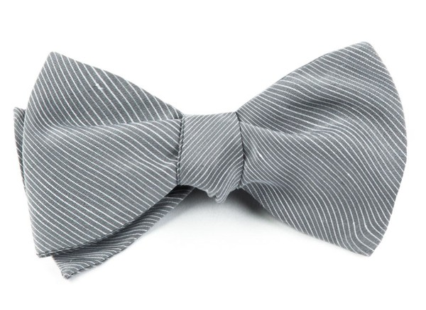 Fountain Solid Silver Bow Tie
