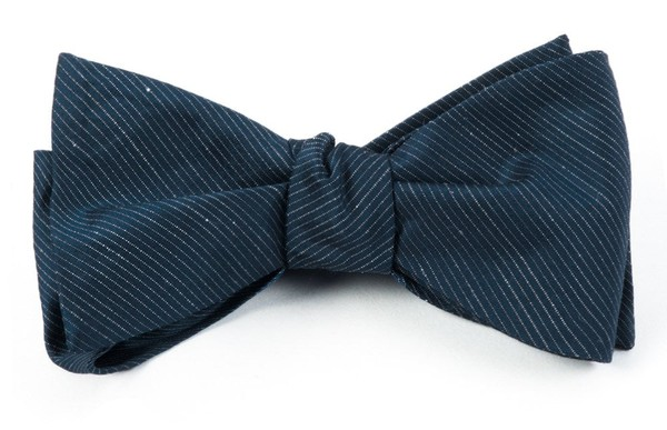 Fountain Solid Navy Bow Tie