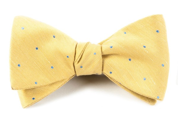Bulletin Dot Yellow Bow Tie