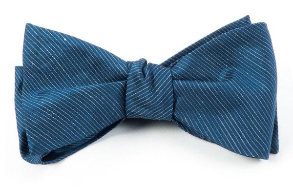 Fountain Solid Deep Serene Blue Bow Tie