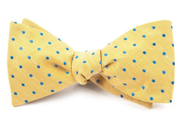 Dotted Dots Yellow Bow Tie