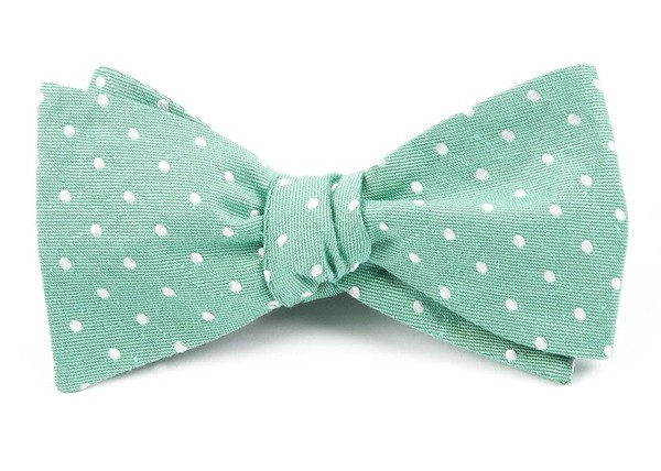 Dotted Dots Mint Bow Tie