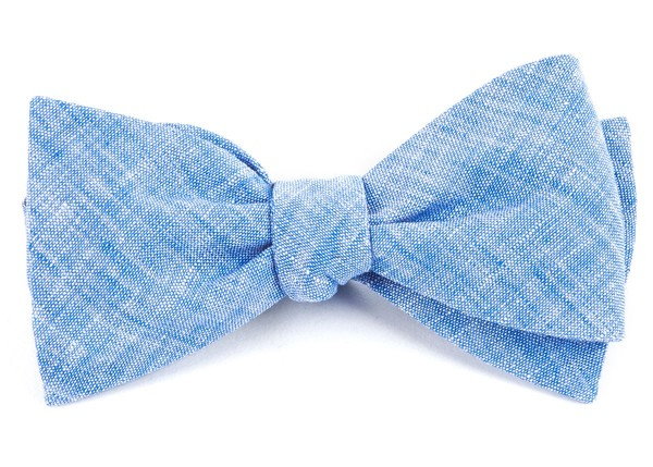 Freehand Solid Light Blue Bow Tie