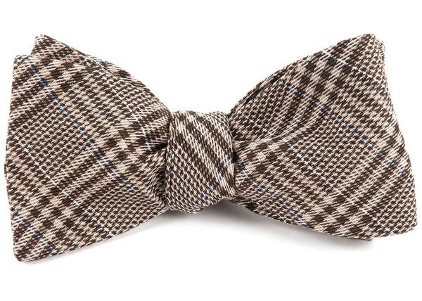 Columbus Plaid Browns Bow Tie