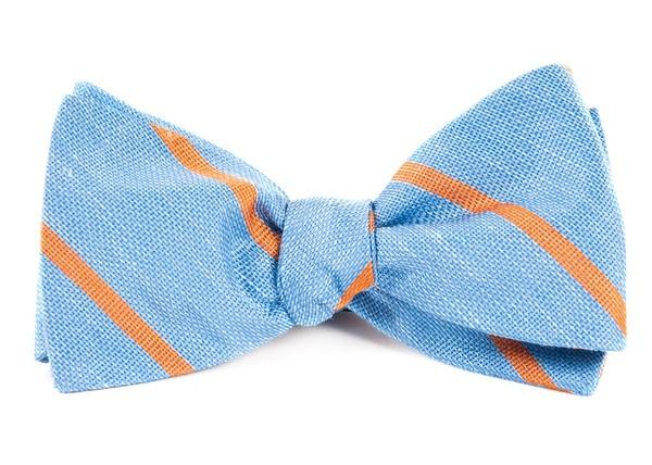 Spring Break Stripe Light Blue Bow Tie