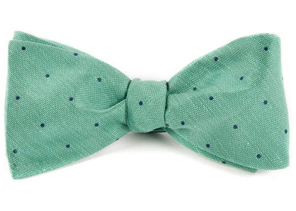 Bulletin Dot Mint Bow Tie