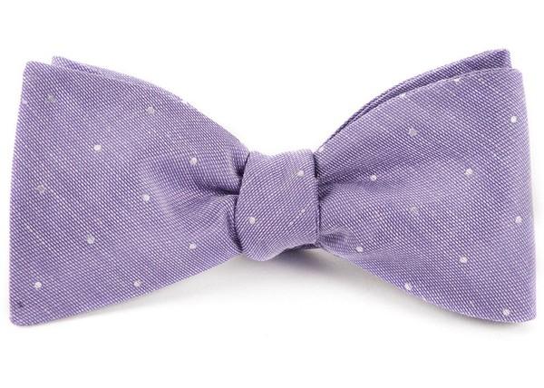 Bulletin Dot Lavender Bow Tie