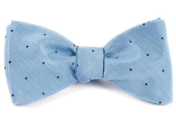 Bulletin Dot Sky Blue Bow Tie