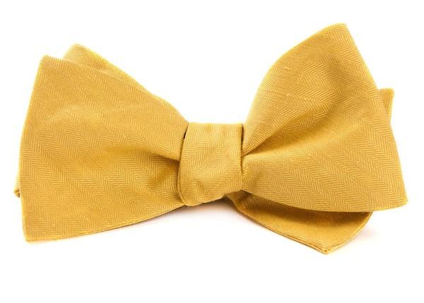 Linen Row Yellow Bow Tie
