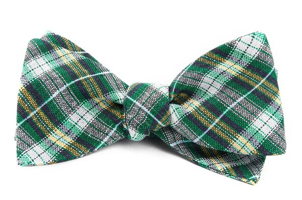 Plaid Outlook Kelly Green Bow Tie