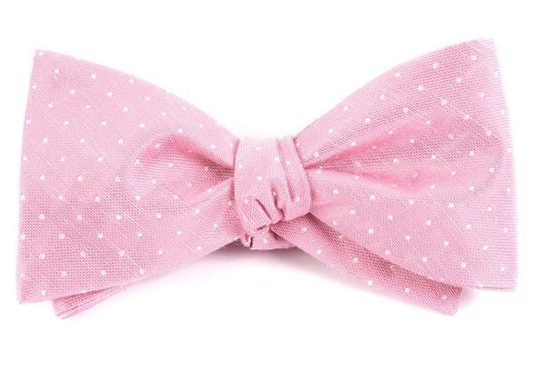 Destination Dots Pink Bow Tie