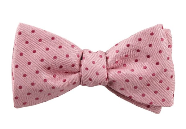 Shock Dots Baby Pink Bow Tie