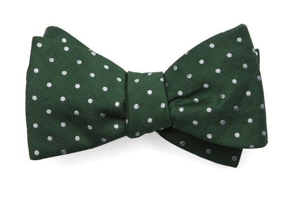 Dotted Dots Clover Green Bow Tie