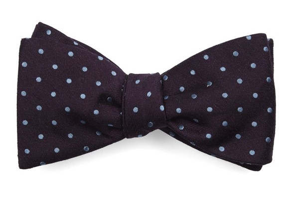 Dotted Dots Eggplant Bow Tie