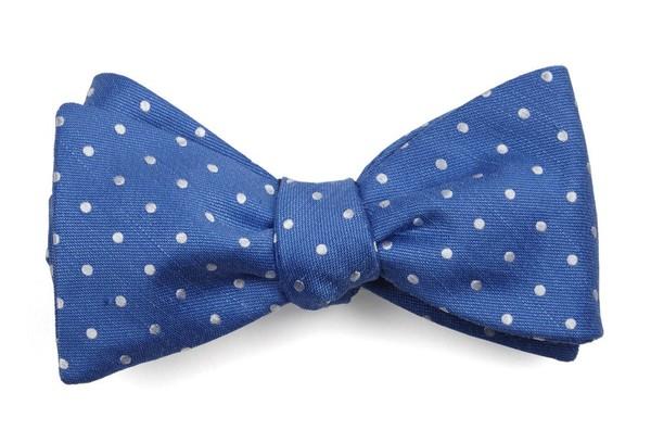 Dotted Dots Light Cobalt Blue Bow Tie