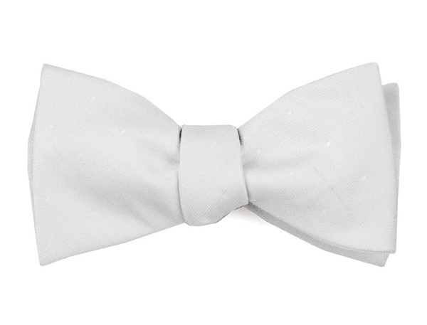 Bulletin Dot Ivory Bow Tie
