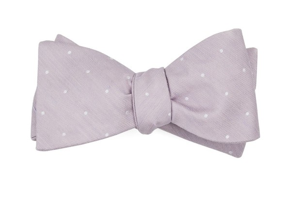 Bulletin Dot Mauve Stone Bow Tie