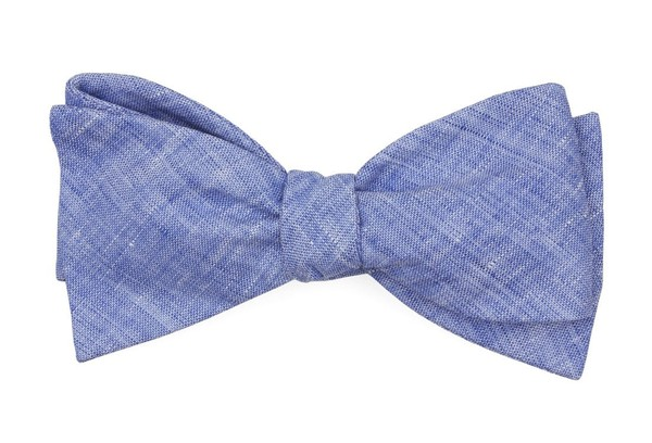 South End Solid Blue Bow Tie