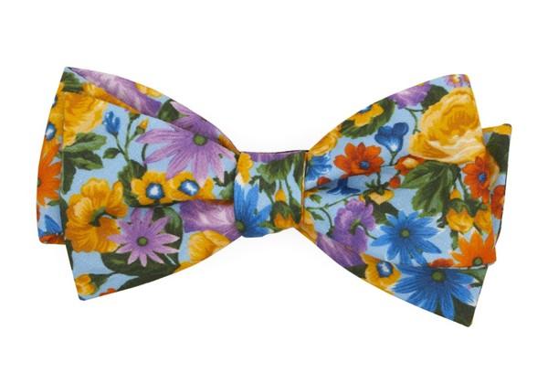 Duke Floral Light Blue Bow Tie