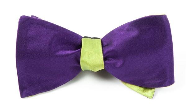 Solid Satin Deep Purple Bow Tie