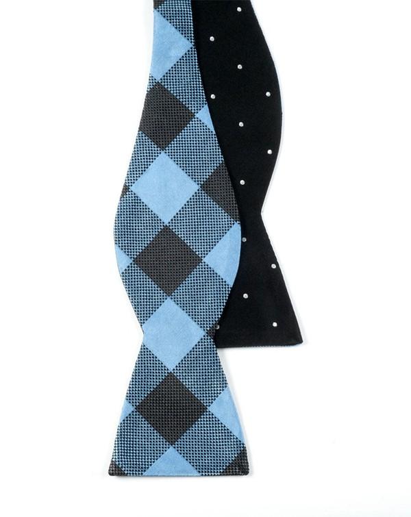 Dot Buffalo Black Bow Tie