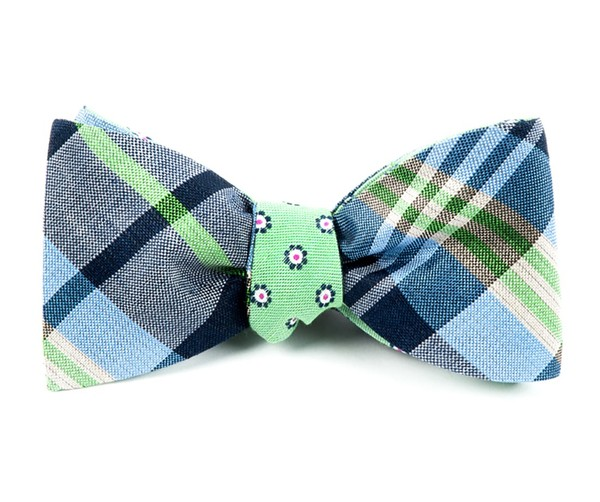 Crystal Moon Floral Navy Bow Tie