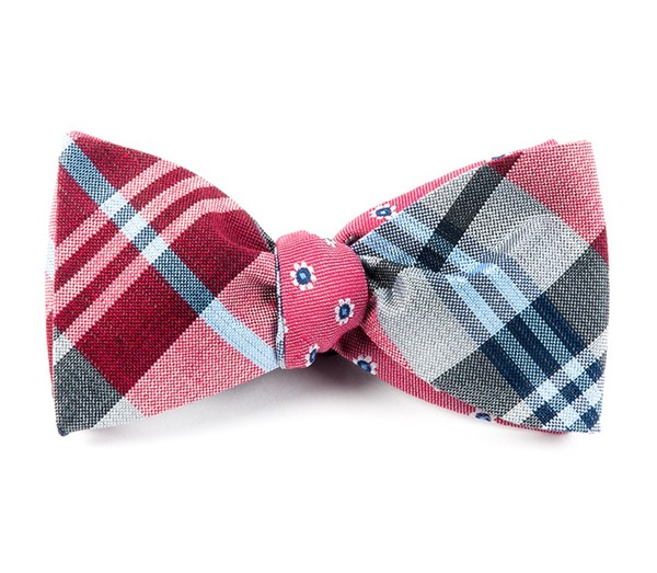 Crystal Moon Floral Reds Bow Tie